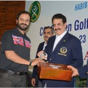 Mr. Imran Janjua GM Corporate Communications at PTCL received trophy from Chief of Army Staff, General Raheel Shareef