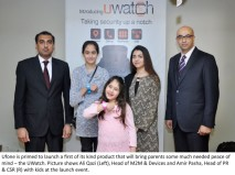 Secure and connected with your Family and Kidz through UWatch . 1st of It's kind gadget launched by Ufone.