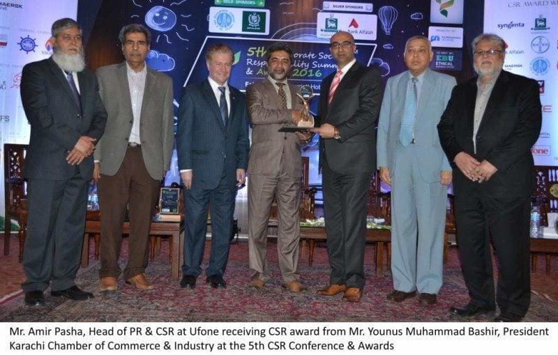 Ufone bags two prestigious CSR awards